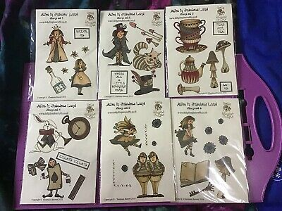 DOLLY DIMPLES ALICE IN FABULOUS LAND CLEAR STAMPS 6 Sets