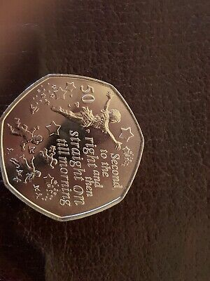 2019 ISLE OF MAN PETER PAN DARLING CHILDREN AND TINKERBELL 50p FIFTY PENCE