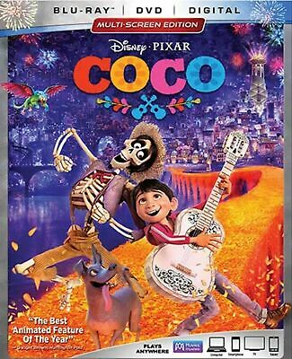 Coco (Blu-ray/DVD, 2018, 2-Disc Set, Includes Digital Copy) sealed with slipcase