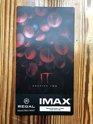 It Movie Chapter 2 IMAX Regal Collectible Ticket Excellent Condition
