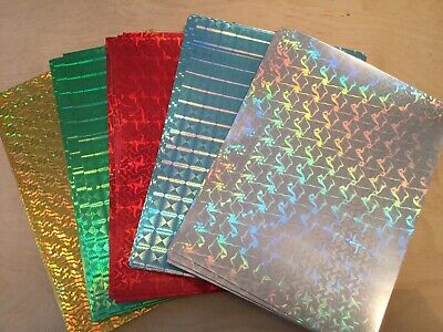 A4 Holographic Paper Gold, Silver, Red, Green, Blue
