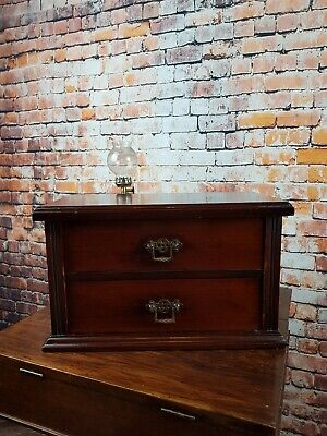Vintage Watchmakers Small Handmade Wood Chest of Drawers / With Tool Cabinet