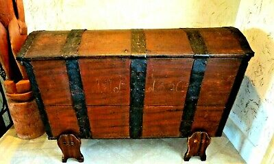 Old Spanish 1700's Oak Chest, Sea Chest, Pirates Chest, California Mission