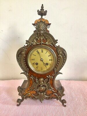 Beautiful Antique French Walnut Cased Boulle Clock.