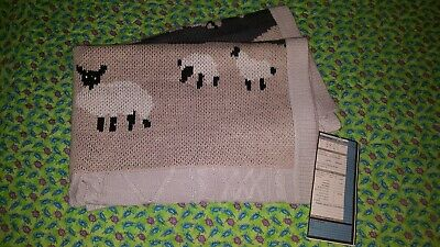nwt Pottery Barn Kids sample sheep knit baby blanket/crib size quilt