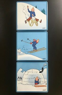 Herge * 3 Boites Collector Tintin Neige * Moulinsart 2003