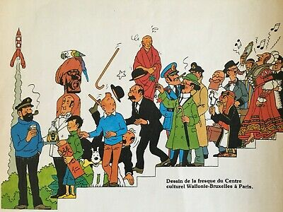 Herge * Calendrier Journal Tintin 1984 * La Fresque * Casterman