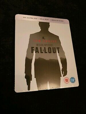 Mission Impossible Fallout 4k Blu Ray Steelbook NEW & SEALED Tom Cruise Action
