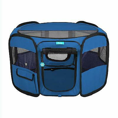 Pawdle Deluxe Premium Foldable Portable Traveling Exercise Pet Playpen Kennel