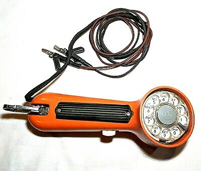 Western Electric Bell System Linemans Rotary Phone Line Tester Orange Complete