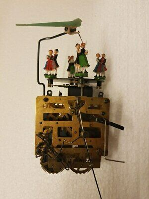 Cuckoo Clock Movement Regula 477 with 4 dancer at top