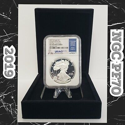 2019 W $1 Silver Eagle Proof NGC PF70 Congratulations Set First Day FUN Jeppson