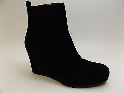 Women's Dolce Vita Black Suede Wedge Heel Ankle Boots SZ 9.0 M NEW DISPLAY D1766