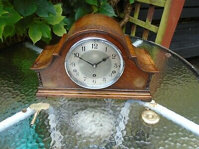 English Garrard Quality Fully Restored Westminster Chime Or Strike Mantle Clock