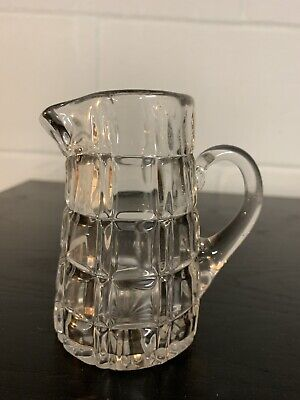 Antique Crystal Cut Glass Creamer ABP Glass Small Pitcher Vintage Brilliant