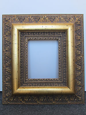 8x10 Antique GOLD LEAF Wooden Ornate Picture frame  -6 1/2 inches wide