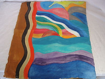 TAPA ART #2 Pacific Islands Awesome Detailed Colourful TREATED BARK ART #1775