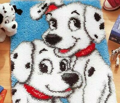 Dalmatian latch hook kit with printed canvas 52 x 38 cm