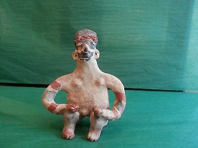 Pre-Columbian Nayarit Polychrome Male Figure