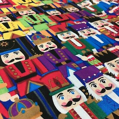 Christmas The Nutcracker Packed Multicolour Sewing Quilting Fabric FQ