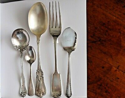 Elkington & Co Fiddleback Fork 1895 Gorham Sterling Silver Spoon Reed Barton A1