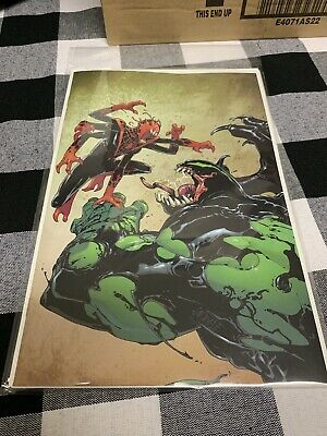 Rare Absolute Carnage Miles Morales #2 2019 Nycc Exclusive Virgin Variant Marvel