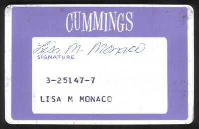 Cummings Stores Regular Size Thin Plastic Merchant Credit Card