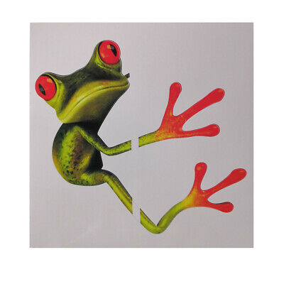 Stereo Cute Green Frog Funny Car Toilet Decal Room Wall Sticker Art New BBW#1