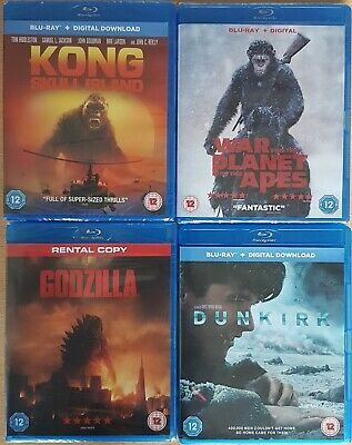 Blu ray bundle - including War for the Planet of the Apes - new, wrapped