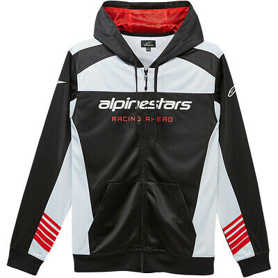 Alpinestars Session Fleece Jacke Hoodie Schwarz - Weiß Freizeit Enduro MX Cross