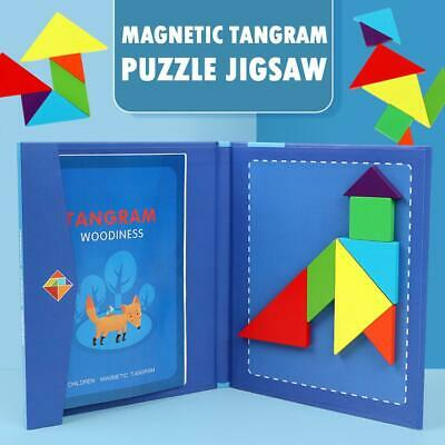 1 Set Magnetic Tangram Puzzle Jigsaw Montessori Educational Toy for Kids