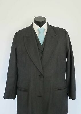Three Piece Victorian Style Pure Wool Grey Suit