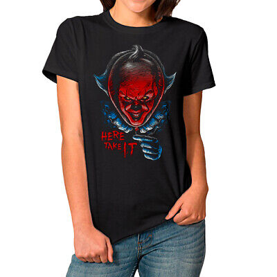 Details about  /RETRO FAN SCARY PENNYWISE ARTWORK GRAPHIC ART DESIGN QUALITY ESSENTIAL T-Shirt..