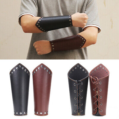 Bracers Steampunk Leather Gauntlet Wristband Bracer Rivet Arm Cuff Cosplay Props