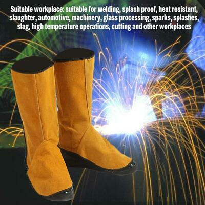 Leather Welding Soldering Legs Shoes Cover Protector Welder Working Safety Tool