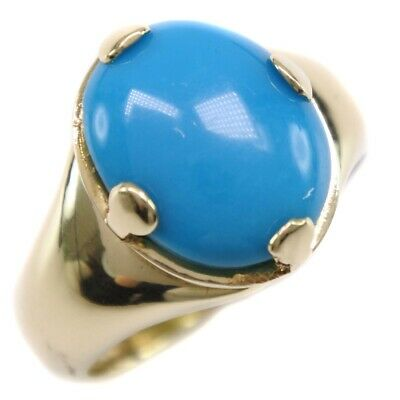 AUTHENTIC  Ring K18 yellow gold/Luco stone #14(JP Size) Women