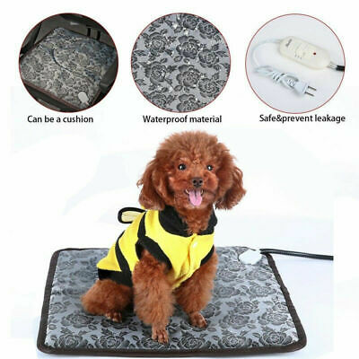 Dog Cat Warmer Bed US Pet Electric Heat Pad Heater Mat Warming Blanket Heating