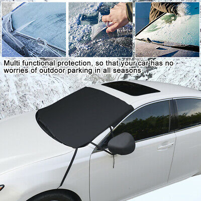 Car Windscreen Mirror Cover Duty Protect From Frost Ice Snow Screen Windshield