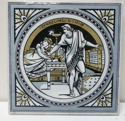 Antique Tile Shakespeare Series Painted Minton Works Stoke On Trent Cymbeline
