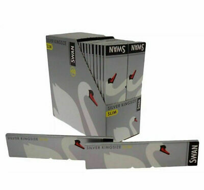 Swan Silver King Size Rolling Papers 50 Booklets FULL BOX