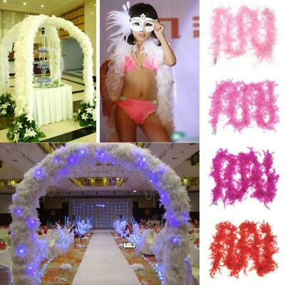 Wedding Supplies Craft 2m Costume Dressup Boa Fluffy Flower Party Decor Feather