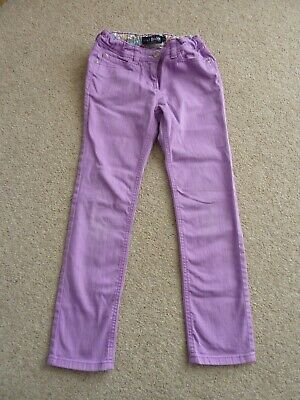 Girls Mini Boden Funky Purple Adjustable Waist Jeans Age 9