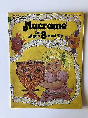 Macrame For Ages 8 and Up Kids Vintage Patterns Taurus Publications Magazine