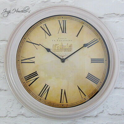Large French Wall Clock Stylish Home Deco Antique wall clock 34 cm Glass Face
