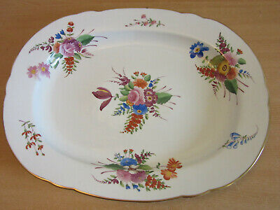 "Huge CHELSEA HOUSE porcelain / hand painted floral large platter 16"" X 20"""