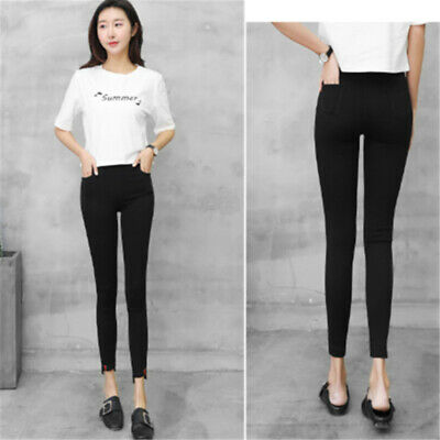 Women's Winter Thermal Warm Thick Fleece High Waist Trousers Skinny Leggings