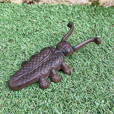 Vintage Antique Cast Iron Beetle Insect Wellington Welly Boot Jack Grate Remover