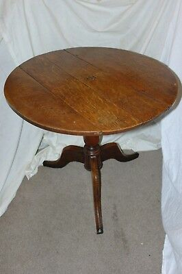 "ANTIQUE Occasional TABLE-18th Century OAK-Large 32""-Georgian-ROUND-Heavy 15KG"