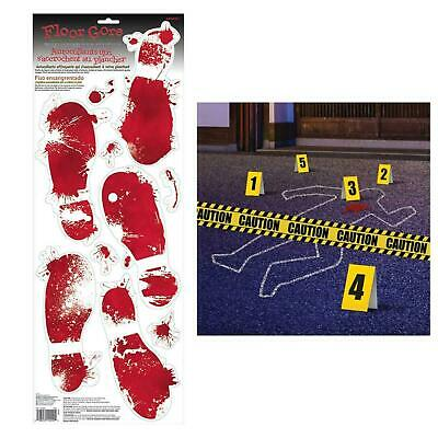 Crime Scene Party Decoration Murder Mystery Fake Blood Footprints Tape Chalk