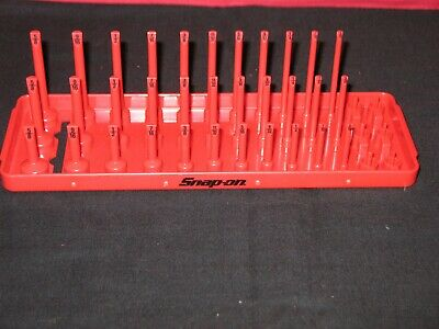 "SNAP ON TOOLS 1/4"" A/F SAE Post 3-Row Socket Tray in Red"